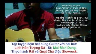 Linh Hồn Tượng Đá Guitar [ Học đàn guitar ] đệm hát điệu Slowrock rải và quạt chả cơ bản