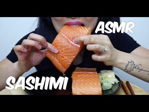 ASMR Salmon Sashimi (EXTREME SAVAGE EATING) Whole Big Slice NO TALKING | SAS-ASMR