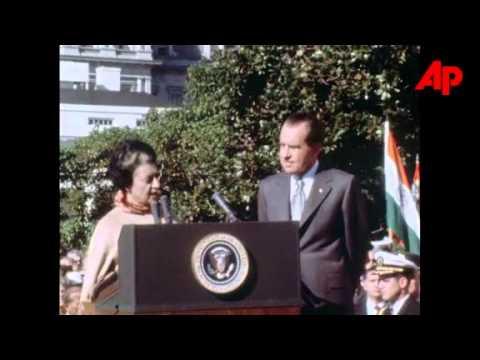 PM Indira Gandhi at white house with President Nixon 11/04/1971