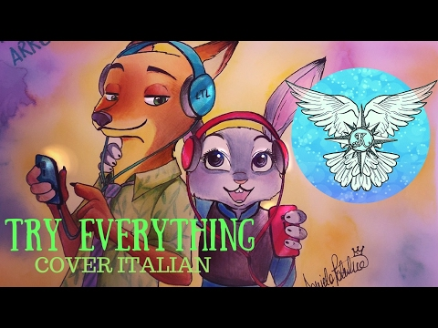 Try Everything Italian Version - Speed Drawing Zootropolis