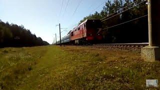 Тепловоз ТЭП70БС-080 с поездом №647 Гомель - Минск