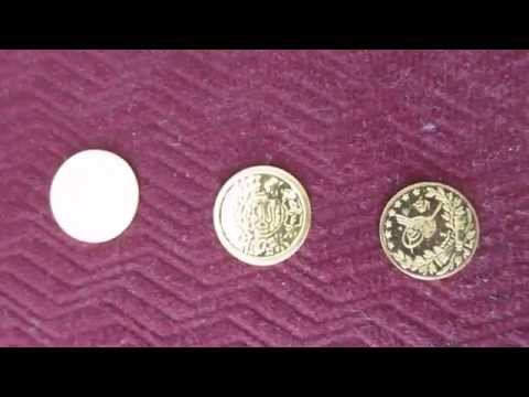 Some very small gold coins