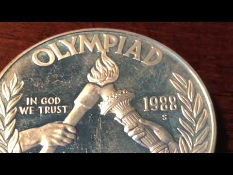 1988 Olympic Silver Dollar - S Mint Mark Proof Coin