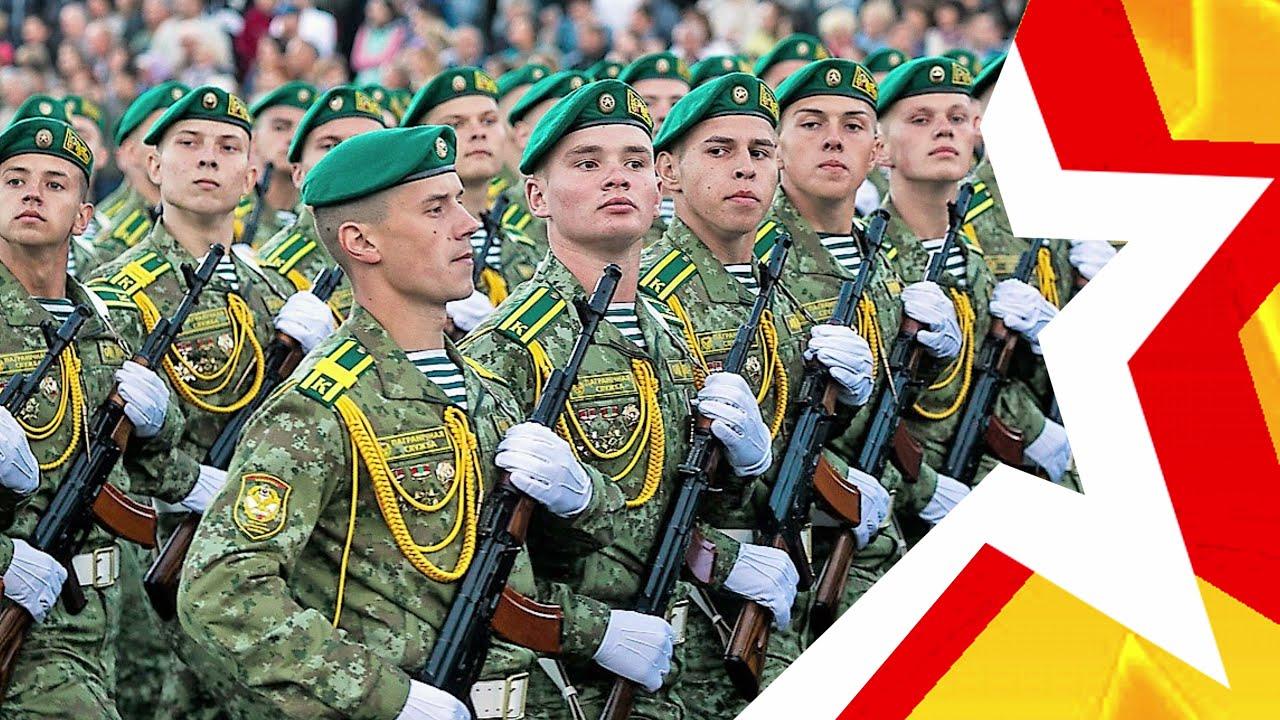 Марш *ПРОЩАНИЕ СЛАВЯНКИ* на белорусском языке. Как бы смотрелся парад в Минске, если бы было так?