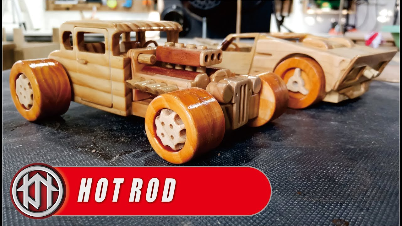 HOT ROD - wooden toy cars