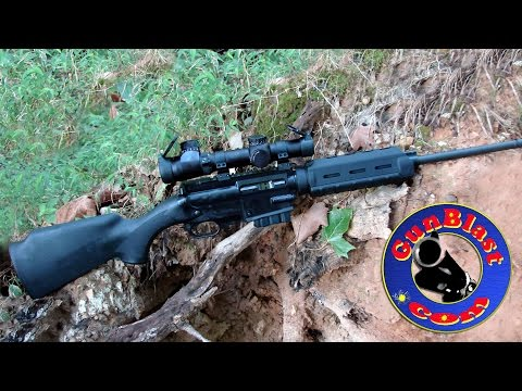 Shooting The 5.56x45mm SCR Semi-Automatic Sporting Carbine From Ares Defense Systems - Gunblast.com
