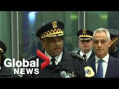 Chicago mayor Rahm Emanuel and police provide update on shooting at Chicagos Mercy Hospital