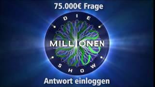 75.000€ Frage - Antwort einloggen | Millionenshow Soundeffect