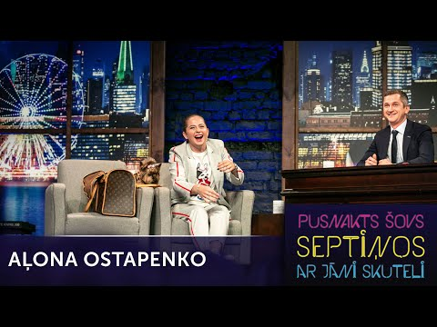 Aļona Ostapenko par tenisu | Pusnakts šovs septiņos | S06E11