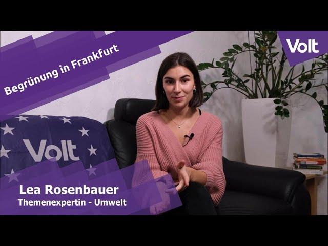 YouTube: Lea Rosenbauer von Volt zu Begrünung