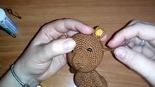 Как сделать веко мишку? Урови амигуруми для начинающих.