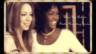 Mariah Carey - When You Believe Studio Recording Session with Whitney Houston - Prince Of Egypt