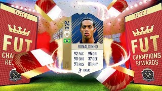 OMG PRIME RONALDINHO!! ELITE 2 FUT CHAMPS WEEKLY REWARDS - FIFA 18 ULTIMATE TEAM