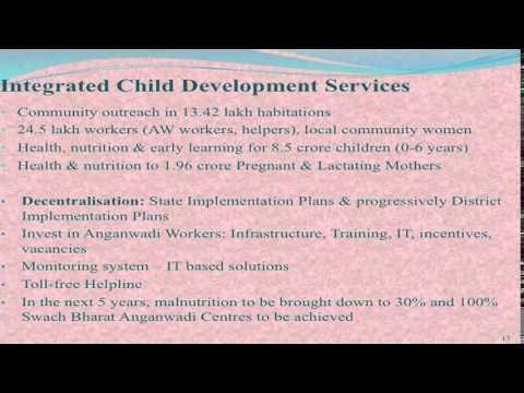 presentation of union ministry of women child development