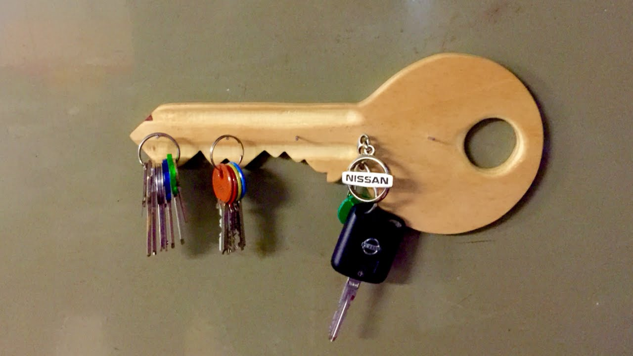 How To Make a Wooden Key Shaped Key Holder - DIY Home Tutorial -  Guidecentral - YouTube