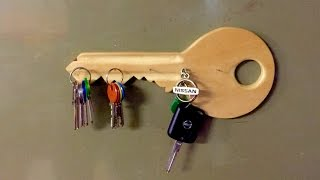 How To Make A Wooden Key Shaped Key Holder - Diy Home Tutorial - Guidecentral