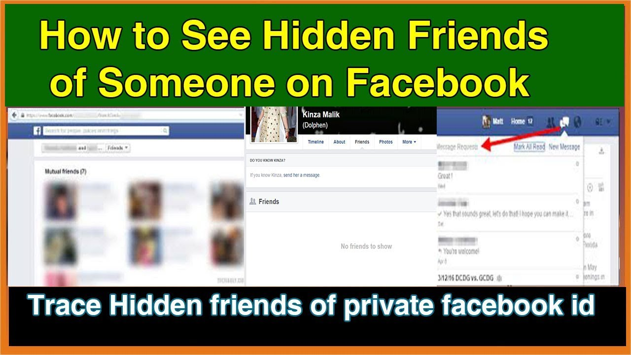 how to see hidden friends of someone on facebook with new tracing way 2018