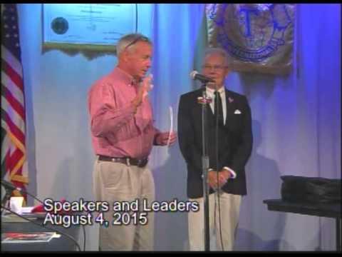 Speakers And Leaders 2015 August