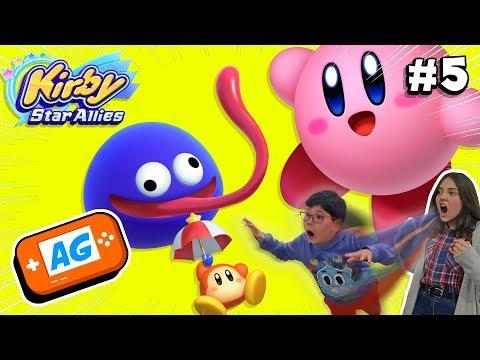 Jugamos Kirby Star Allies con nuestro Padre cap 5 Nuevos personajes !