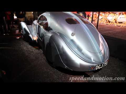 1936 Bugatti Type 57SC Atlantic starting up