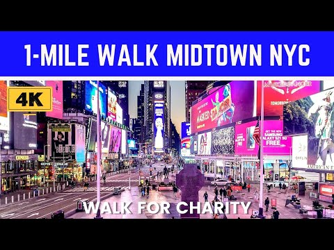 [4K] 1-Mile Walk in MIDTOWN // Explore NYC BLOCK-BY-BLOCK // Walk for Charity
