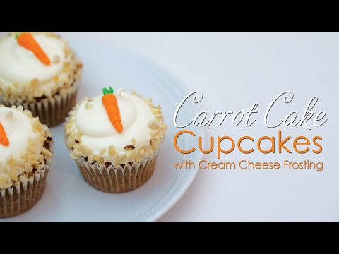 Save Carrot Cake Cupcakes with cream cheese frosting Tutorial & Recipe Images