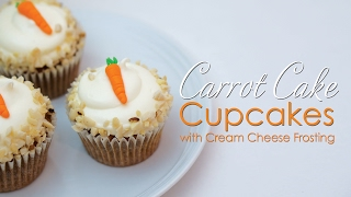 Carrot Cake Cupcakes with cream cheese frosting Tutorial & Recipe