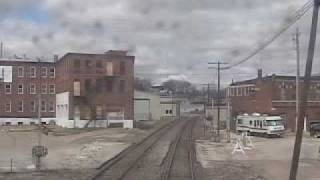 Rolling into Burlington, IA on Amtrak