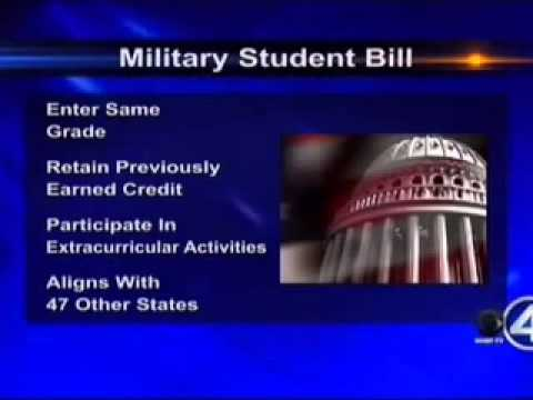 Governor signs Simon-backed bill helping military schoolchildren
