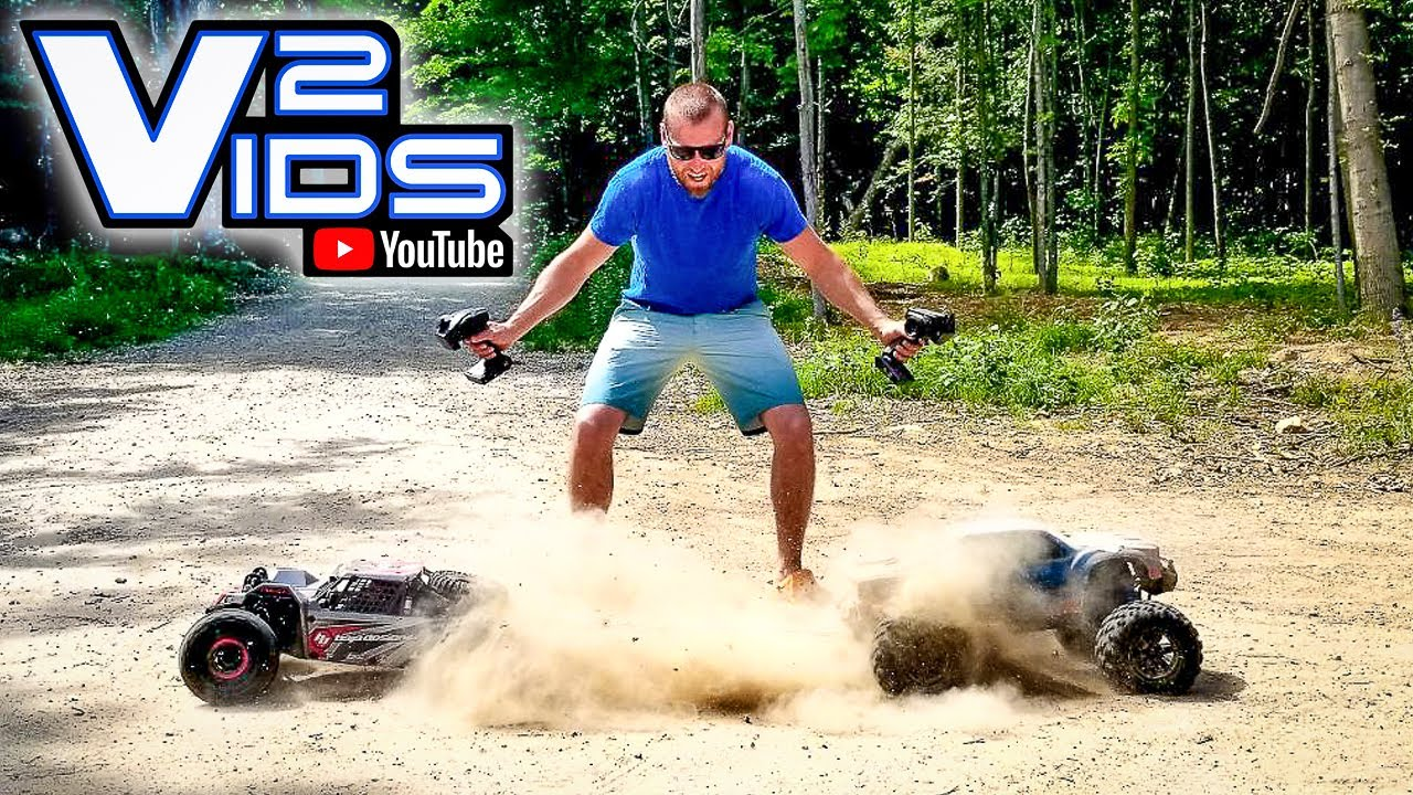 GIANT RC Car Tug of War.!