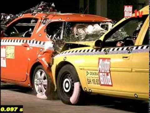 Crash Test Di Tamponamento Autobild Toyota Iq Youtube