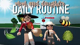 Mom and Daughter Daily Routine | Roblox Bloxburg | Arabellaa