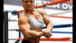 Muscle Building   Beautiful Female Bodybuilder Oana Hreapca Flexing Strong Bicep Muscles 2012