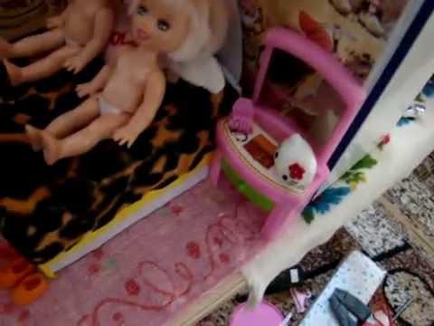 видео: Домик для барбиных сестер!!!