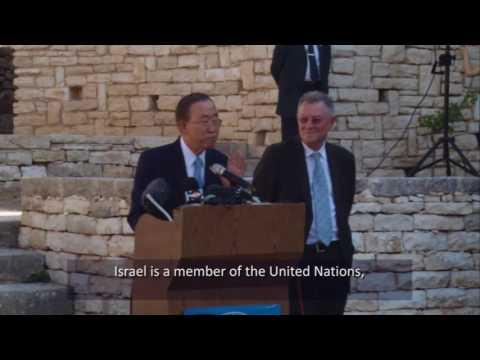 Ban Ki Moon Admits UN bias of Israel