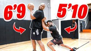 1v1 Basketball Against NBA Champion Big Baby Glen Davis  *Trash Talk*