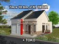 Rumah Minimalis Lantai  1_Modern House (7x10.8)_2 K. Tidur