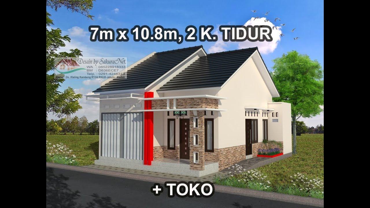 Rumah Minimalis Lantai 1 Modern House 7x10 8 2 K Tidur Youtube