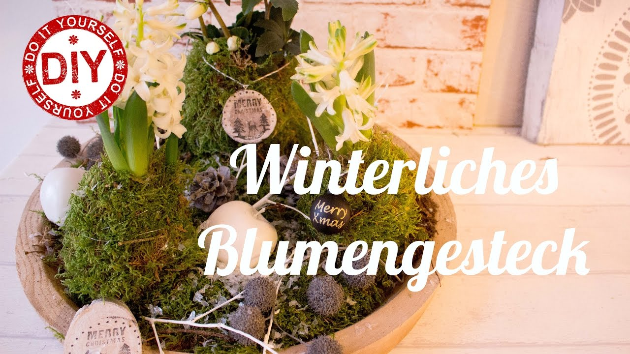 how to winterliches blumengesteck i deko inspirationen by