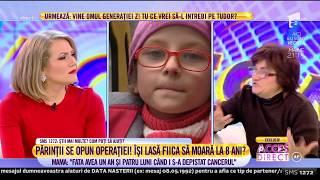 După șase Ani De Tratamente, Părinții Biancăi Petronela, Copila Bolnavă De Cancer, Refuză Operația