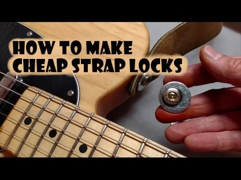 how to make cheap strap locks for guitar joe normal youtube. Black Bedroom Furniture Sets. Home Design Ideas