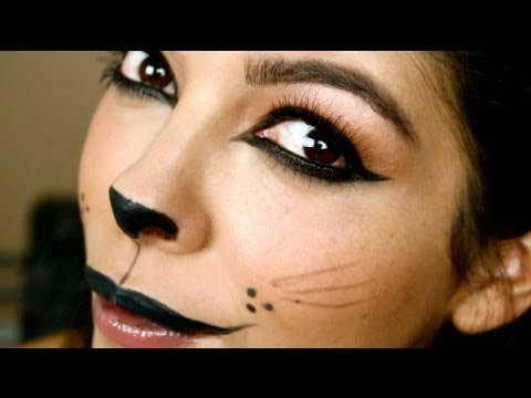 easy halloween makeup tutorial kitty cat - Cat Eyes Makeup For Halloween