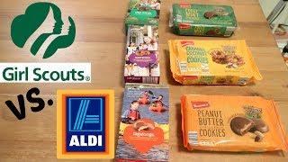 Girl Scout Cookies vs. Aldi Taste Test! | Blessed Jess