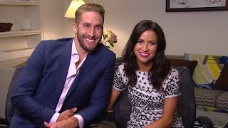 Et sat down with kaitlyn and her new fiance, shawn, she talks nick's departure from the show, $150,000 engagement ring!
