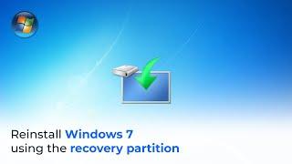 Windows 7 Reload (restore partition)