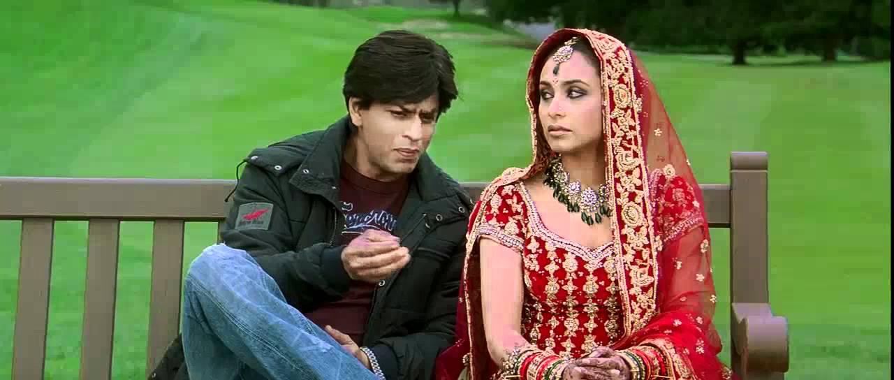 Download Kabhi Alvida Naa Kehna - Shahrukh & Rani first Meeting on bench with Title Sad Song 2 - High Quality