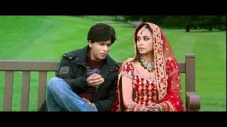 Kabhi Alvida Naa Kehna - Shahrukh & Rani first Meeting on bench with Title Sad Song 2 - High Quality