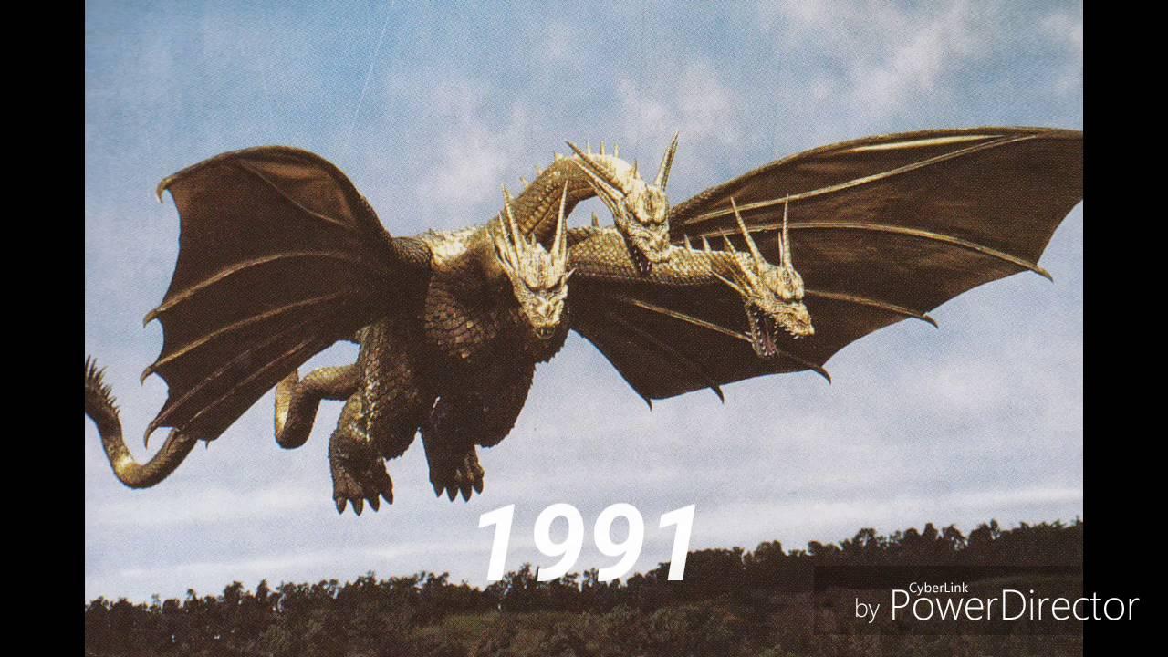 The Evolution Of King Ghidorah 1964 2004 Youtube