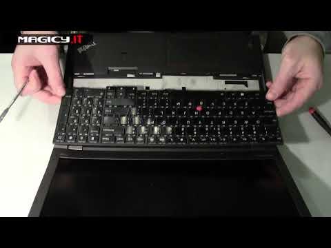 Lenovo ThinkPad T540p Disassembly damaged hinges