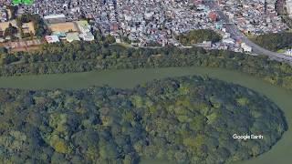 仁徳天皇陵のVR空撮動画を Google Earth Studio で作ってみました。 Vir...